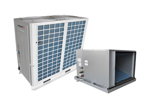 Central heating cooling modules