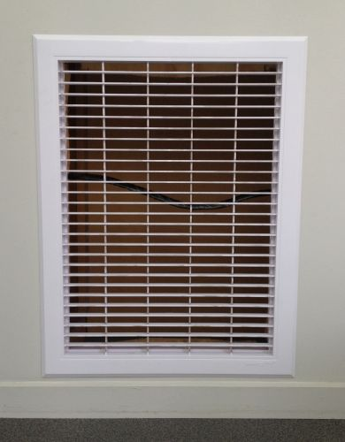 White Plastic Return Air Grille